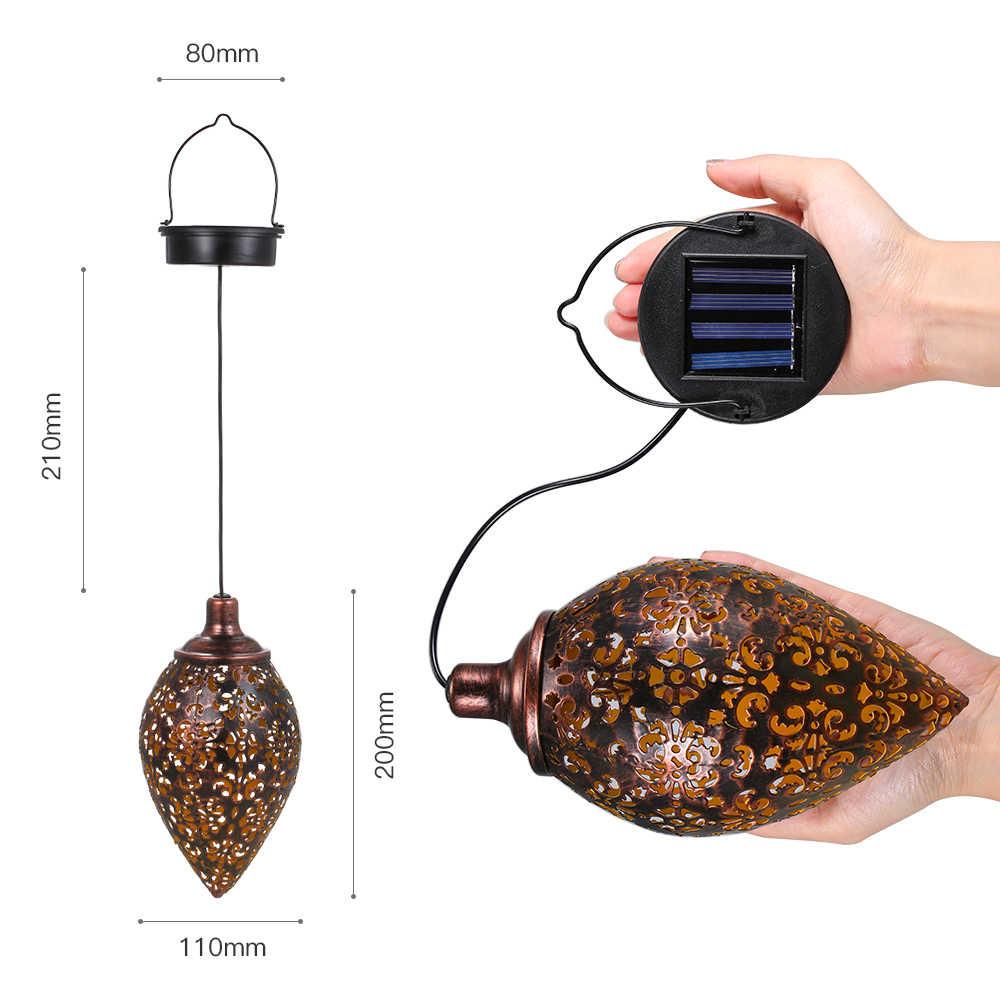 Waterdichte Solar Tuin Licht Led Lantaarn Opknoping Outdoor Solar Lamp Olijf Vorm Gevoelige Sensor Controle Zonne-energie Lamp