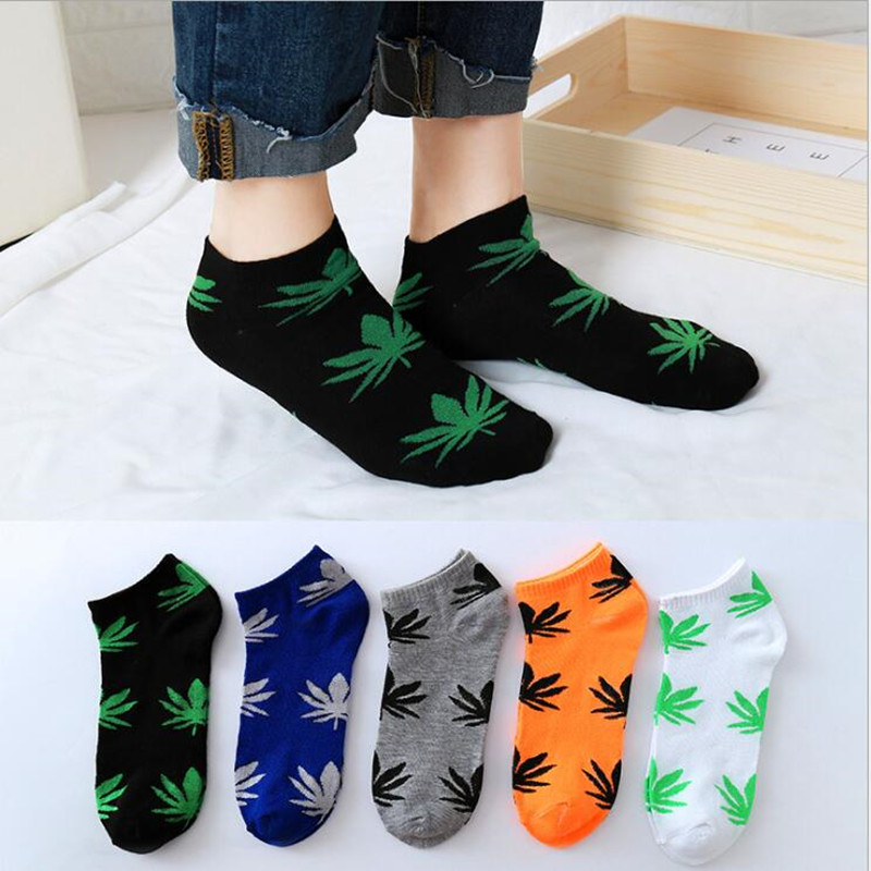 Unisex Fashion Harajuku Skarpetki Weed Socks Cotton Street Fashion Hip Hop Socks Happy Fun Calcatenes Hip Hop Men's Sock Loss Sa