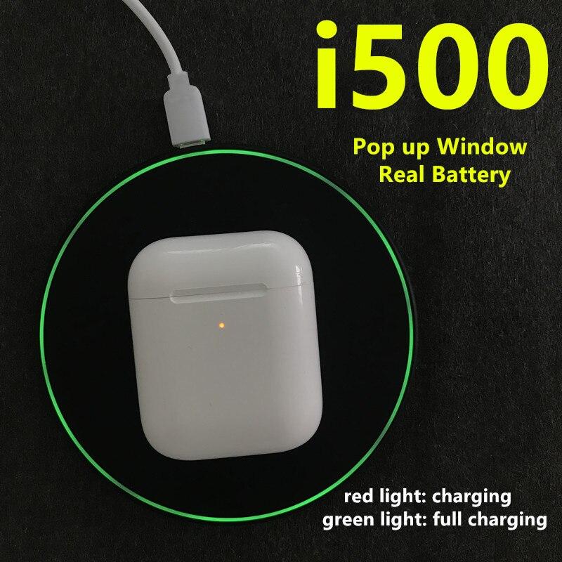 I500 TWS Pop up écouteur sans fil charge sans fil avec capteur PK w1 H1 puce i10 i80 i500 i1000 i200 tws casque de jeu