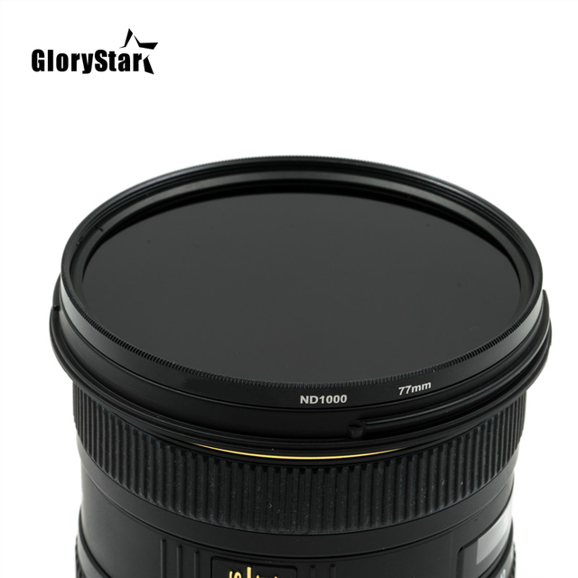 ND32 ND64 ND400 nd1000 nd2000 ND Glass Neutral Density Lens Filter 37/49/52/55/58/62/67/72/77/82 mm for canon nikon SONY dslr 4