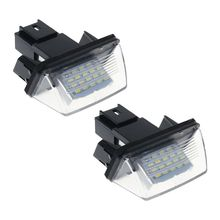 цена на 2Pcs/set 18 LED License Number Plate Lights Lamp For Peugeot 206 207 307 308 406 Citroen C3/C4/C5/C6 dropshipping for LED