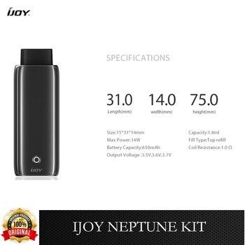 IJOY – Kit de démarrage de Cigarette électronique, 14w, puissance maximale, batterie 650mah, cartouche Pod 1.8ml, 1 ohm, Original