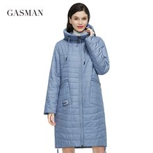 GASMAN 2021 New Women's spring jacket Autumn Women Coat  Long parka big size Fashion women's jackets female Thin Cotton 81858