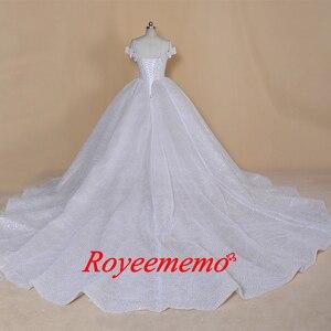 Image 5 - 2020 new desgin luxurious full beading top Wedding Dresses dubai bling bling bride dress custom made wedding gowng