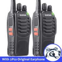 2 stücke Baofeng bf-888s Tragbare Walkie Talkie 16CH bf 888s Two Way Radio UHF 400-470MHz 2 stücke Jagd Transceiver mit Kopfhörer