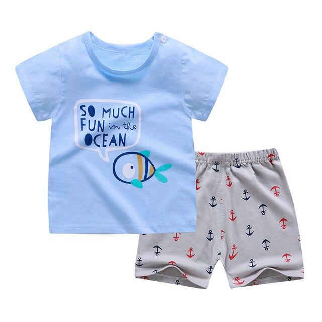 2020, ropa para niños pequeños, conjuntos de dibujos animados, camisetas de verano para niñas, trajes de 1 2 3 4 años, ropa para niños, camiseta + Pantalones cortos