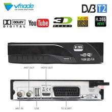 цена на Vmade Original Set-Top Box DVB-T2/T HD 1080P Digital Terrestrial TV Receiver Support Built H.265/HEVC Dolby AC3 Youtube TV Tuner