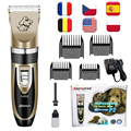 Rechargeable Pet Dog Hair Trimmer Low Noise Professional Cat Animal Hair Clipper Remover Cutter Grooming Shaver Set Hair Clipper