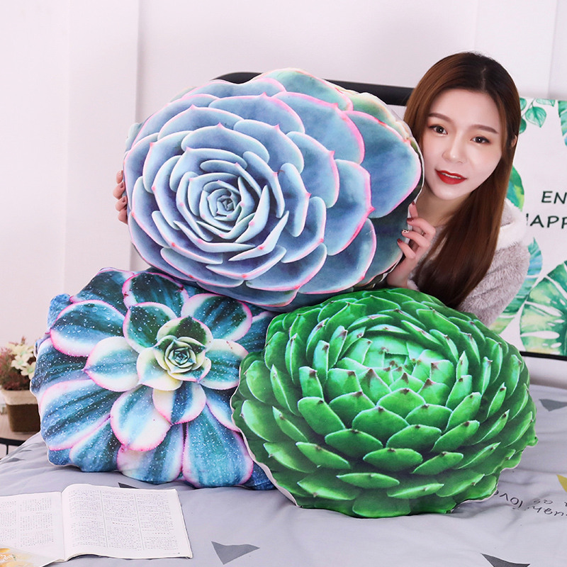 1pc 50cm Soft Simulated Succulent Plants Cactus Plush Toy Stuffed Cute Pillow Sofa Cushion For Kids Child Adult Birthday Gift