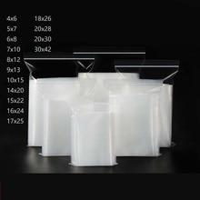 Zip Lock Bags Transparent Poly Zipper Pocket Plastic Storage Ziplock 100 Pack