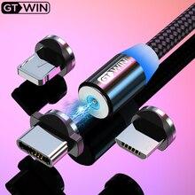 GTWIN 1 м/3 м Магнитный кабель Micro type C USB кабель для быстрой зарядки для iPhone зарядное устройство кабель USB C Магнитная Зарядка для xiaomi redmi
