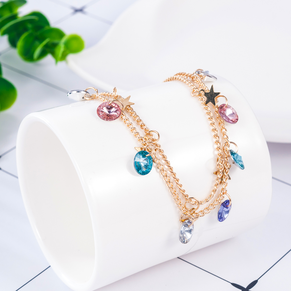 Modern Simple Multi-layer Star Anklets Set For Women Vintage Handmade Anklet Bracelet on Leg Beach Party Ocean Jewelry 2019 2