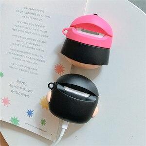 Image 2 - 3D Leuke Japan Cartoon Chi Bi Maruko Crayon Shin Chan Oortelefoon Cases Voor Apple Airpods 1 2 Siliconen bescherming Cover