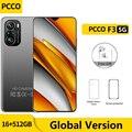 Глобальная версия PCCO F3 5G смартфон 6,7 дюймов 48MP Quad Camera мобильных телефонов