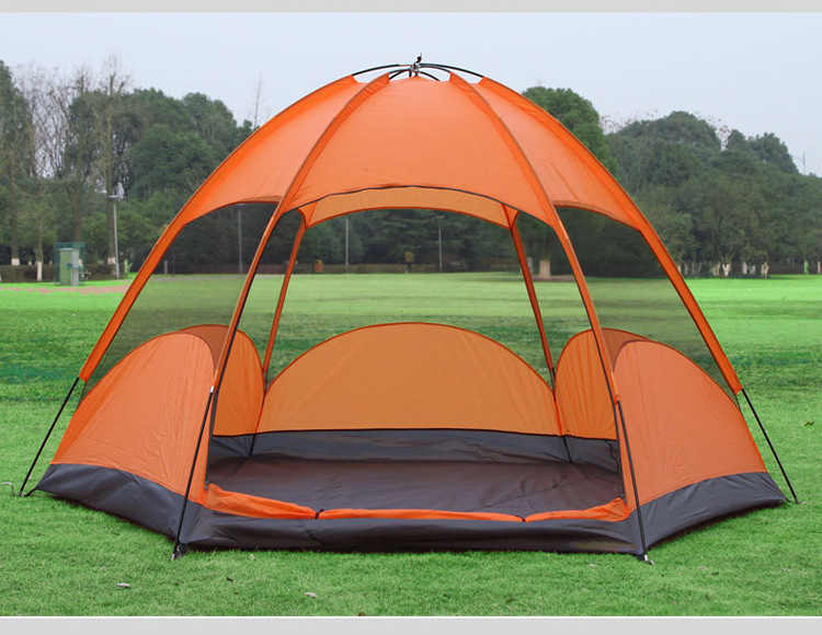 Mongolian Yurt Tent Fishing Mosquito Net Picnic Family Outdoor Camp Summer Beach Camping Tent 5 Person Waterproof (6)
