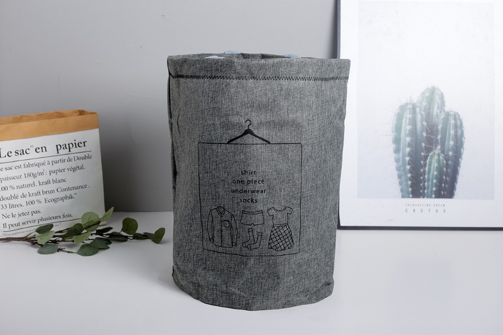 Laundry Basket Picnic Basket Stand Toy Storage Box Bag Cotton Washing Dirty Clothes  Basket Organizer Bin Handle 4050 (3)