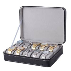 Fashion Watch-Box Storage Jewelry-Display-Container Zipper 6-10 Detachable Lint 12-Slot/grid
