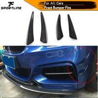 Carbon Fiber Front Bumper Trims Spoiler Fins Canards for BMW E90 E92 Audi A5 A3 C63 C43 A45 AMG Universal Car Accessories