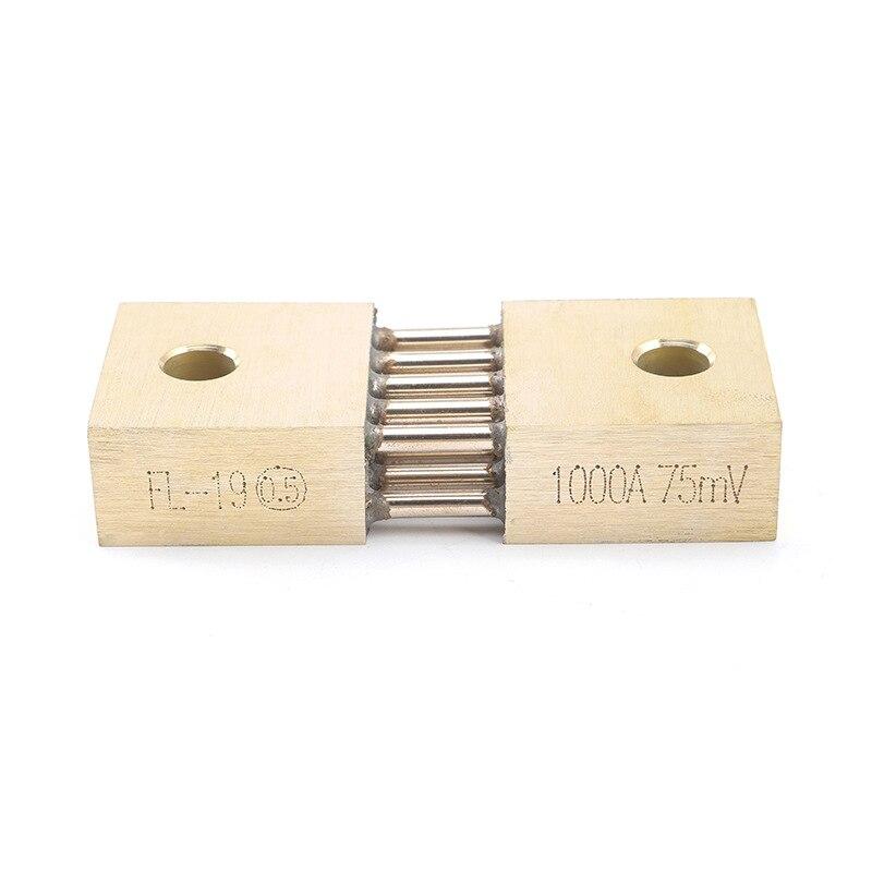 Шунт для сварки 1000 А, 75 мВ, латунный резистор, шунты постоянного тока для аналогового тока, 1 шт.