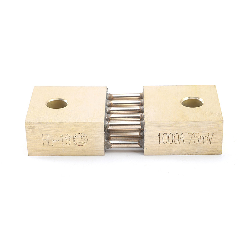 1pcs FL-19B Shunt 1000A 75mV Welding Machine Brass Resistor DC Shunts For Current Analogue Panel Meter