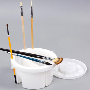 Brush Washer Artist-Brush-Set Pot Art-Supply Watercolor Oil-Paint Portable