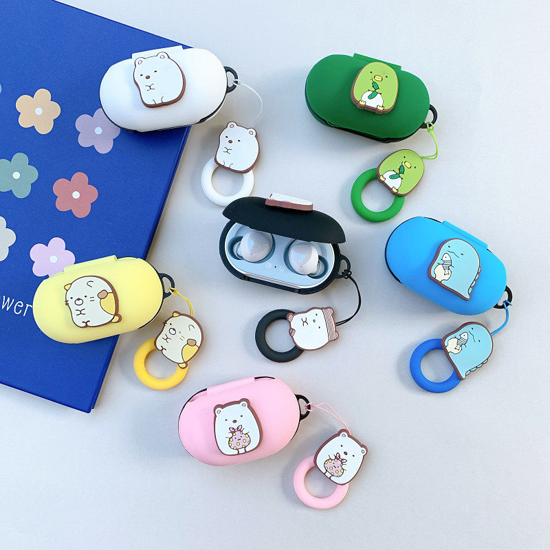 Cute Silicon Cover for Samsung Galaxy Buds Plus <font><b>Case</b></font> <font><b>Bluetooth</b></font> <font><b>Headset</b></font> Charging Box Cover Wireless Headphone Skin Shockproof image