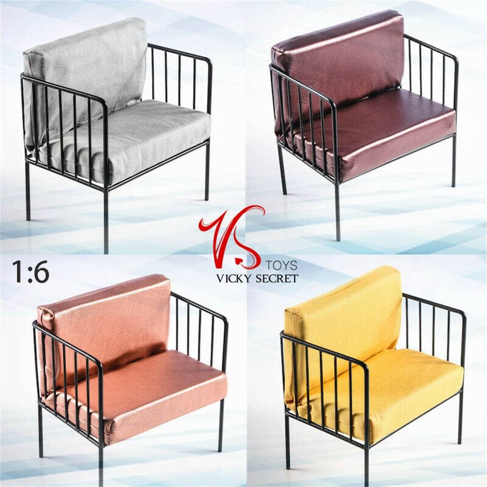 1:6 Scale Figure Scene Accessory VSTOYS 1/6 19XG53/19XG54 Metal Sofa Chair Modern Style image