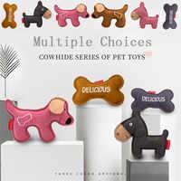 Juguetes Para Perros de entrenamiento para perros de cuero de vaca juguetes de voz para mascotas moler dientes resistentes a la picadura molar entrenamiento interactivo #3O4