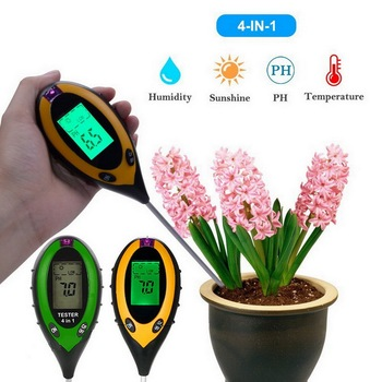 цена на Soil PH Meter With Backlight Digital Tester Moisture Monitor Temperature Sunlight Intensity Measurement Analysis Acidity Alkali