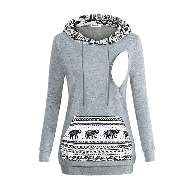 Autumn Winter Warm Nursing Maternity Hoodies Pregnant Women Breastfeeding Pregnancy Hooded Top Maternity Lactation Tshirt Women