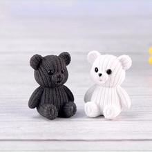home decoration accessories Cute plastic teddy bear home decor