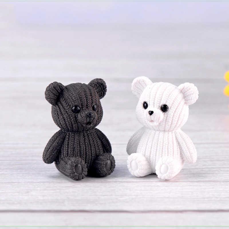 2019 vestido de festa popular para casa acessórios de decoração de plástico Bonito urso de pelúcia em miniatura de fadas animal Páscoa estatuetas de jardim home decor