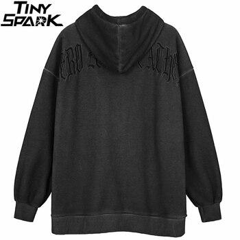 Men Hip Hop Streetwear Hooded Jacket Angel Dark Print Jacket Coat Harajuku Cotton Fleece Autumn Winter Jacket Outwear Zipper 4