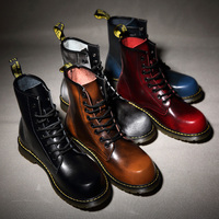 2019 Martens Winter Waterproof Leather For Men Shoes Motorcycle Boots Man Shose Outdoor Boot Male Black High Top Dr Booties 46 7