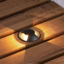 Thrisdar-Luz LED subterránea impermeable IP67, 6W, 9W, 12W, aluminio, exterior, jardín, enterrada, Luz de suelo, camino, cubierta de césped