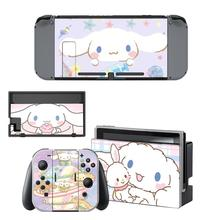 Cinnamoroll Nintendoswitch Skin Nintend Switch Stickers Decal for Nintendo Switch Console Joy con Controller Dock Skins Stickers
