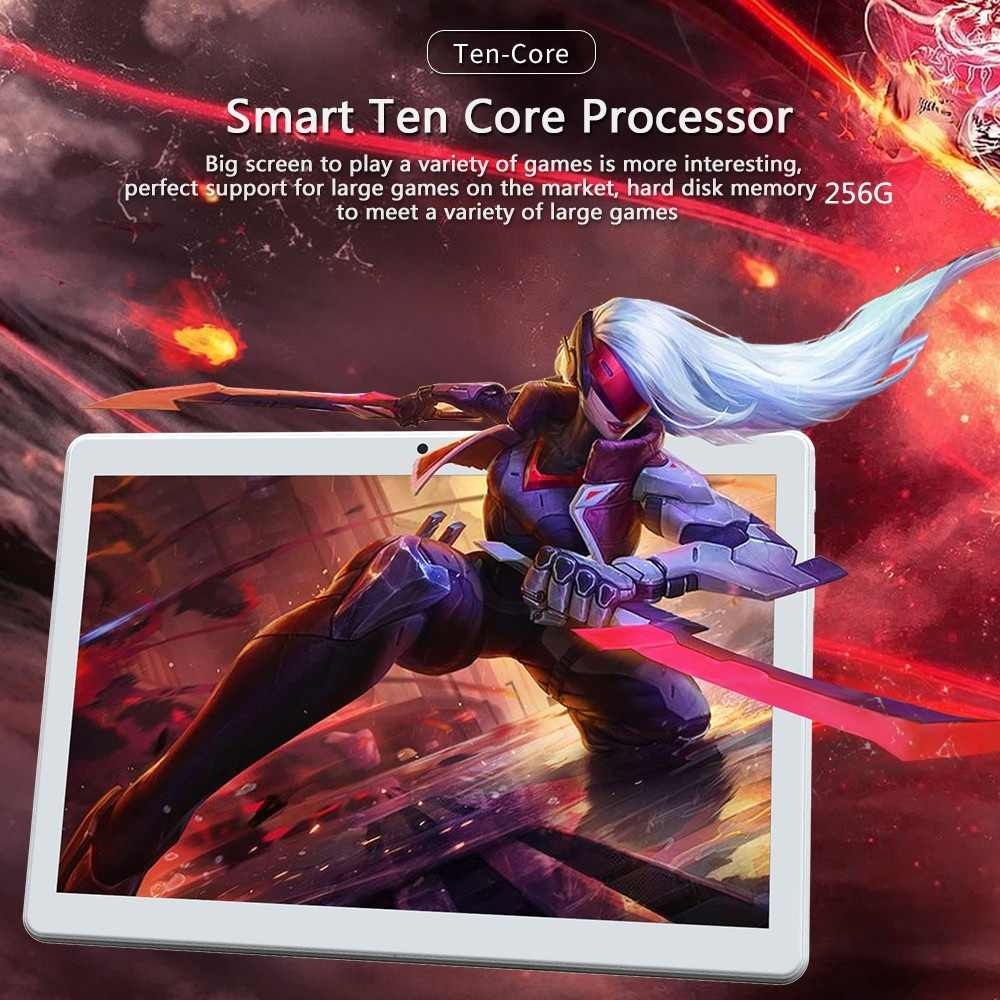 2020 Tablet Pc Neue 10,1 Zoll Octa Core 6G + 128G für Android 8,1 WiFi Tablet PC Dual SIM Dual Kamera Bluetooth 4G WiFi Anruf Telefon