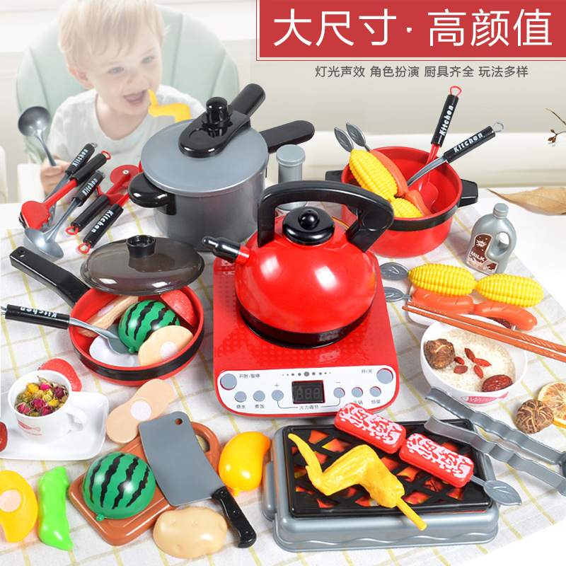 Children Kitchenette Toys Baby Simulation Kitchenware Cooking Girl Kitchen Set For Kids Play Kitchen  Toys For Girl