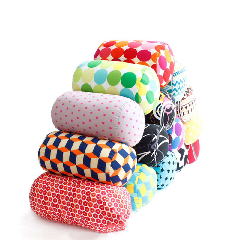 12 Color Office Travel Micro Mini Microbead Back Cushion Roll Throw Pillow Travel Home Sleep Neck Support Comfortable Pillows