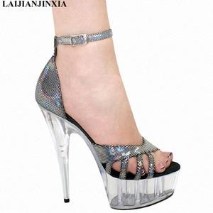 New Women 15cm High-Heeled Shoes Straps Platform Shoes Night club Dancing Shoes High Heels Sandals Dance Shoes