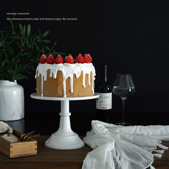 Europejski styl wysokiej nogi ciasto płyta słodki miód 8-Cal Dim Sum płyta rekwizyty ślubne deser dekoracja stołu żelaza ciasto stojak tanie i dobre opinie CN (pochodzenie)