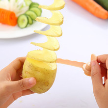 1pc Spiral Slicer Potato Kitchen Gadget Magic Potato Cutter Carrot Cutting Models Kitchen Cooking Tools Vegetable Curls #Y10
