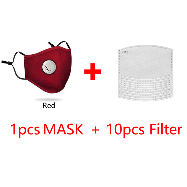 Cotton Breath Valve PM2.5 Reusable Face Mask Filters Easy Breathe Anti-Dust Anti Pollution Anti Haze Mask for Adult 3
