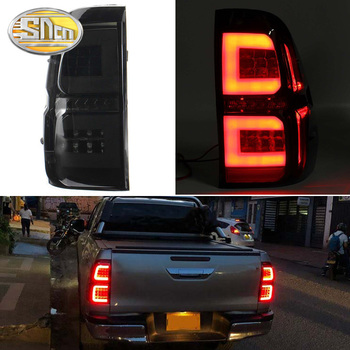Car LED Tail Light Taillight For Toyota Hilux Revo 2015 - 2019 Rear Running Lamp + Brake Light + Reverse + Dynamic Turn Signal akd car styling for toyota hilux tail lights 2014 2016 new revo led tail light vigo led rear lamp drl brake park signal page 5