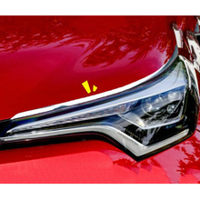For Toyota C-HR CHR 2017 2018 ABS Chrome Car body head front Eyebrow light lamp frame Cover Trim Car Styling accessories 2Pcs citall 2pcs abs black headlight head lamp light brow deco cover trim sticker car styling fit for toyota camry se xse 2018 2019