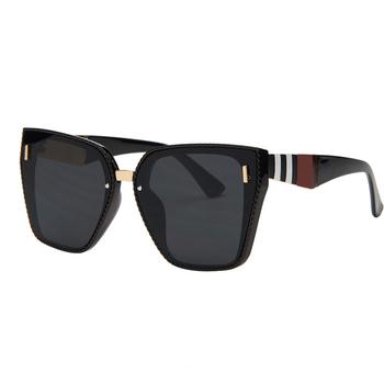 Braamd Vintage za duże kwadratowe okulary damskie marka projektant luksusowe Retro czarny rama okulary kobieta odcienie UV400 tanie i dobre opinie RILIXES CN (pochodzenie) WOMEN Akrylowe Goggle Dla osób dorosłych Z tworzywa sztucznego 58MM 65MM