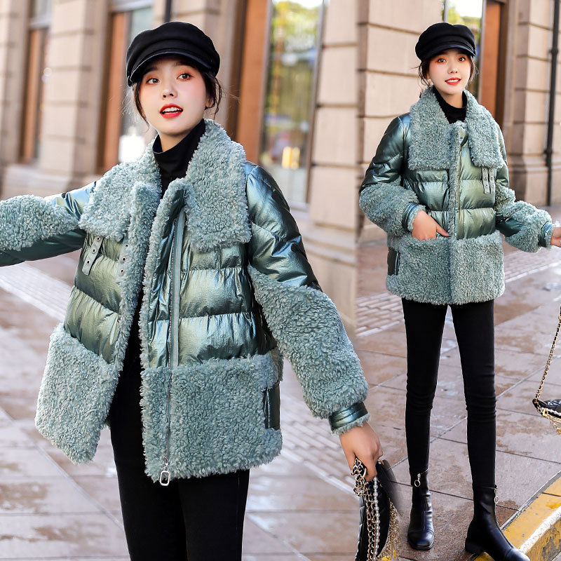 Down Feather Cotton-padded Clothes Women's Winter 2019 New Style Cotton Coat Thick Short-height Short Online Celebrity Small Cot