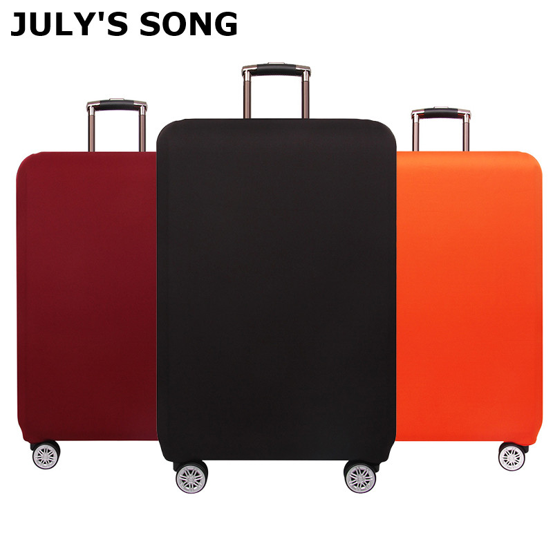 JULY'S SONG Thicken Travel Luggage Protective Cover For 18-32inch Suitcase Case Trolley Elastic Luggage Cover Travel Accessories