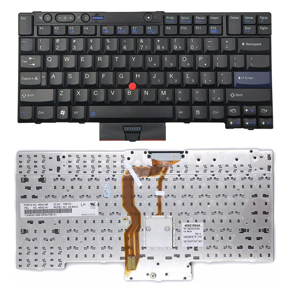 Notebook Replacement Parts Keyboard No Backlight for <font><b>Lenovo</b></font> ThinkPad T410 T420 T510 T520 W510 <font><b>W520</b></font> X220 image