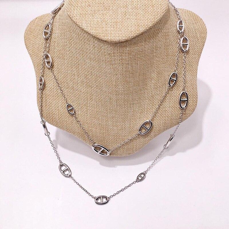 Hot marque H bijoux Farandole collier H lock collier cochon nez cheval forme chandail chaîne de luxe célèbre marque bijoux